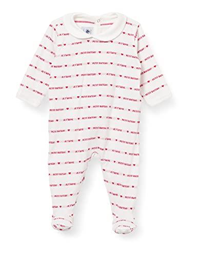 Petit Bateau Baby-Mädchen 5966001 Nachthemd, Marshmallow/Terkuit, 1 Mois
