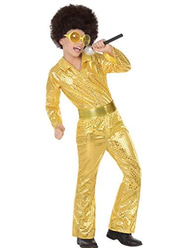 ATOSA 56907 Costume Disco GOLDEN 10-12, 10 a 12 años
