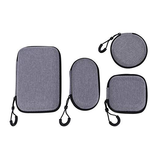 VILLCASE 4 Pcs Fone de Ouvido Capa Protetora Eva Bolsa de Armazenamento de Fone de Ouvido Portátil Mini-Fone de Transporte Estojo de Suporte de Fone de Ouvido para Viagens Ao Ar Livre