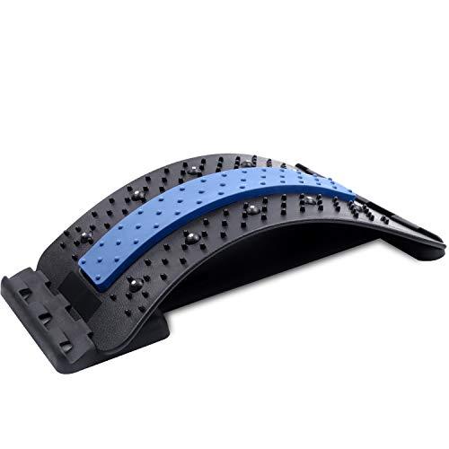 DigHealth Rückenstrecker, Rückendehner mit Magnetischen Perlen für Rückenmassage Blutkreislauf und Lendenwirbelsäule Linderung, 3 Stufen Einstellbar Back Stretcher für Entspannung