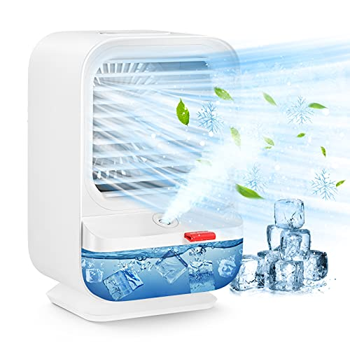 Sholov Portable Air Cooler, Mini air Conditioner Fan USB 4 in 1 Auto Oscillation Air Cooler...