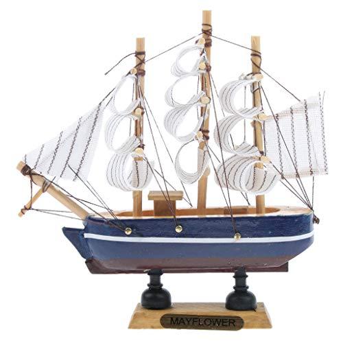 Almencla Holz Schiffsmodell Spielzeug Sammlung Hobby Pädagogisches Segelboot Antikes Geschenk 14cm