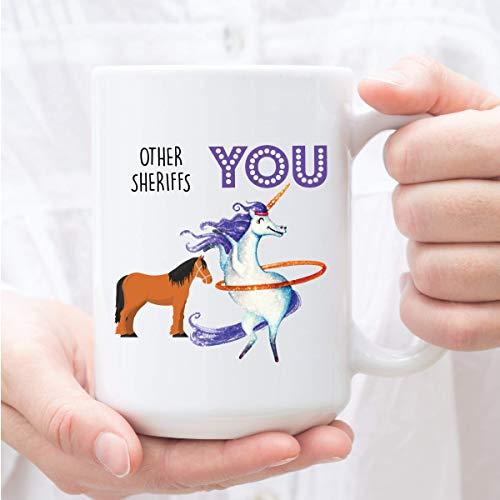 N\A Geschenk für Sheriff, Sheriff-Becher, lustiges Sheriff-Geschenk, Sheriff, Geburtstagsgeschenk-Sheriff
