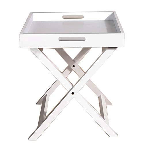 Table Basse De Stockage en Bois Pliable Salon en Bois Canapé Table D'appoint Stable Table Basse Simple Table Basse Antidérapante (Color : Blanc, Size : 46.5 * 40 * 40cm)