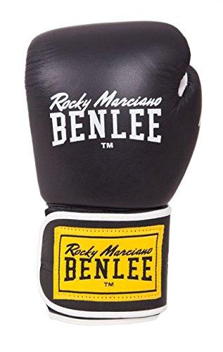 BENLEE Boxhandschuhe TOUGH Leather Thai Gloves - Black Größe 14