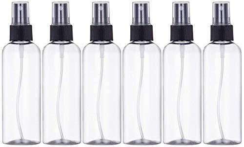 Artily Sprühflasche, Kunststoff, Schwarz, transparent, tragbar, 50 ml, 6 Stück