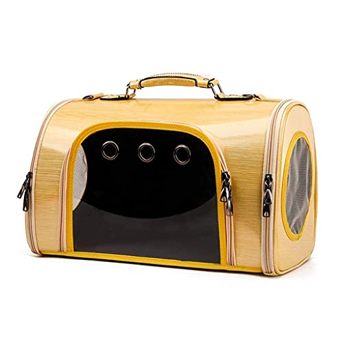 WWQQ Bolsa para mascotas – Mochila para perro para transportar mascotas grande mochila para perros medianos (color: amarillo)