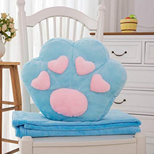 JJFU sierkussen vorm kussen hoofdkussen dier poot full fill simulatie poot simulatie kussen kussen prop blanket 38 * 32Cm-Blue