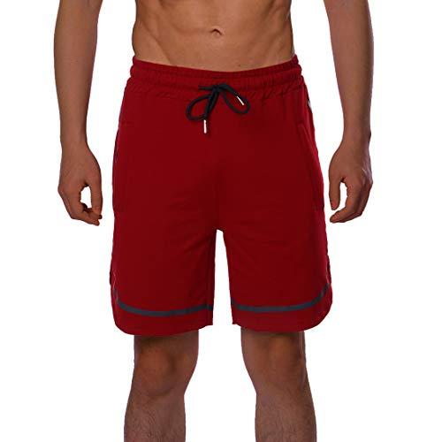 Vertvie heren joggingbroek Club trainingsshorts fitness korte broek met ritszakken vrijetijdsbroek