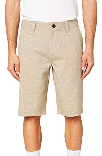 O'NEILL Men's Standard Fit Chino Short, 21 Inch Outseam (Khaki/Westmont Plaid, 42)