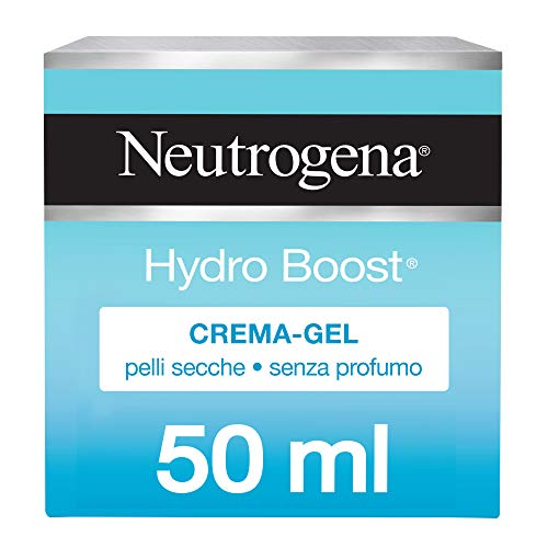 Neutrogena, Crema Gel, Hydro Boost, Pelle Secca, Idratante, Hyaluronic Gel Matrix, Acido Ialuronico, Pelli Sensibili, 50ml