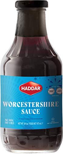 Vegan Worcestershire Sauce 16oz Bottle, Fish Free, Kosher, By Haddar