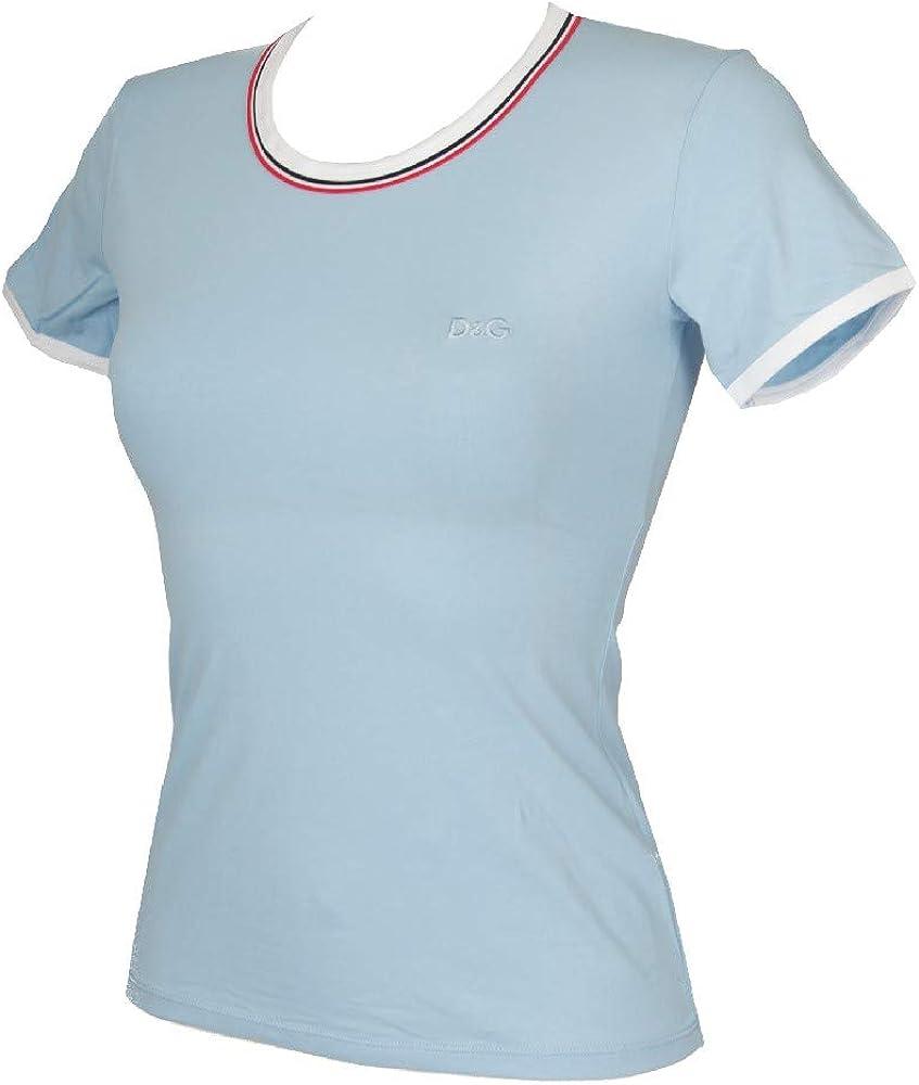 Dolce & gabbana, t-shirt, maglietta da donna a manica corta, 92% cotone, 8% elastan M53130