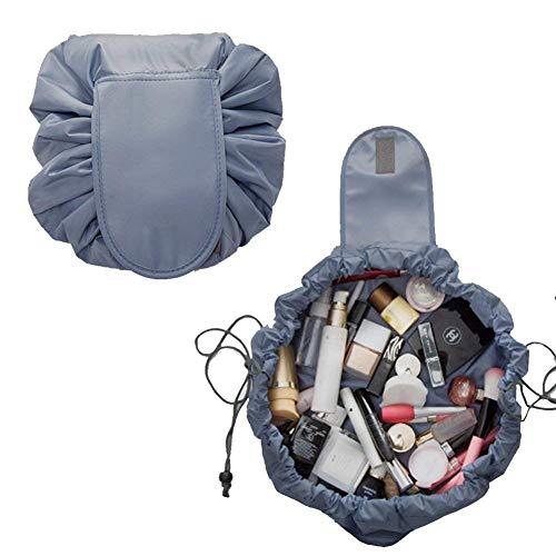 Dandelionsky Copertura con Cerniera Maniglia per Poltrona a Sacco Copri Lazy Bag Potatile in Tessuto Morbido Lavabile Grigio, 70x80 cm