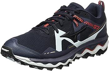 Mizuno Men s Wave Mujin 7 Trail Running Shoe Indiaink Blk Ignitionred 8