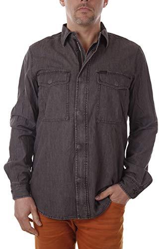Diesel Bowen Camicia Herren Hemd Jeanshemd (L, Grau)