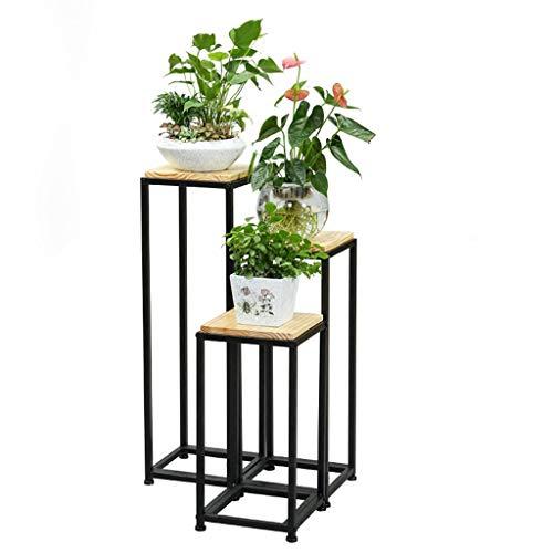 XYHX Rechthoekige Decoratieve Bloem Rack Metaal Vierkant Lade Effen Bloem Pot Stand Indoor Display Stand Bloem Pot Plant Stand Buiten Tuin Bloemenhouder Hoog 60cm