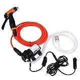 FTVOGUE 12V High Pressure Electric Car Washer Cleaning Machine Water Pump Trigger Spray Gun Washing Kit