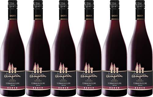 Weinmanufaktur Weingarten Schwarzriesling Rotwein Elegance 2018 Trocken (6 x 0.75 l)