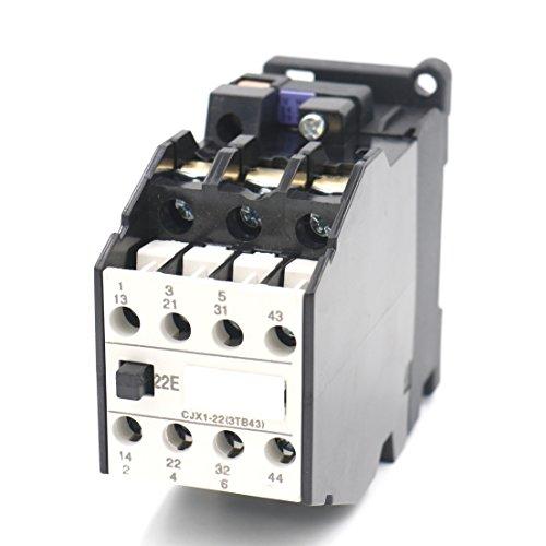 Baomain AC Contactor CJX1-22 24V Coil 50/60Hz 22A 3-Phase 3-Pole 2NO + 2NC
