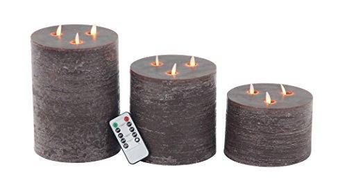 Deco 79 LED Kerze, Braun
