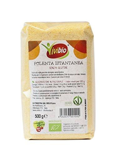 Vivibio Polenta Istantanea senza glutine - 500 gr (Confezione da 10 pezzi)