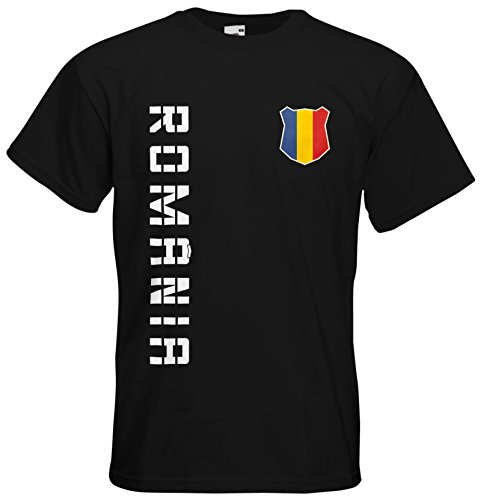 Rumänien Romania T-Shirt Trikot Basic EM-2021 Schwarz M