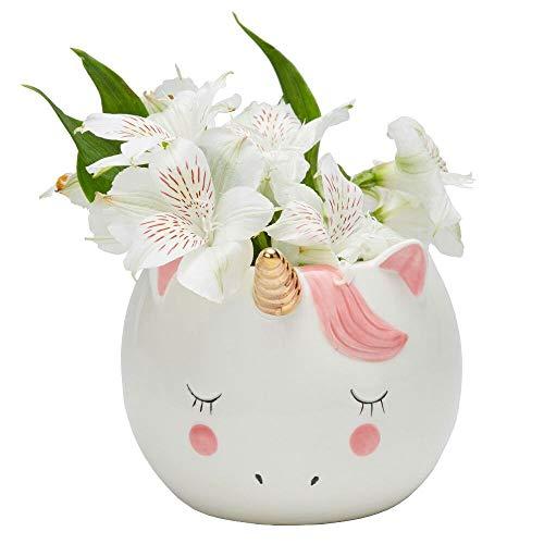 Sweet Unicorn Porcelain Flower Planter Pot