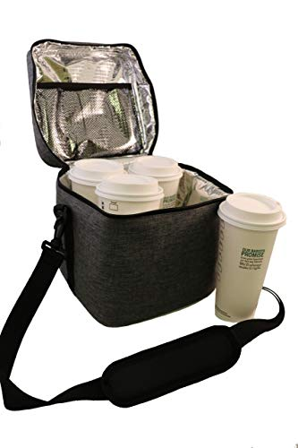 BevBag Insulated Beverage Carrier Extra Tall. (Tweed). Model #4R Cubed. Great for Uber Eats, DoorDash, GrubHub. BevTray Sold Separately. Cups not Included.