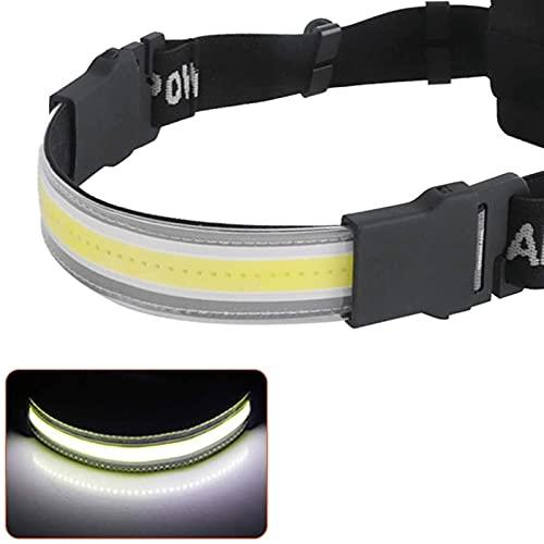 FENGNANMY Linterna Frontal Luz del Faro LED USB Faro Recargable Impermeable Impermeable Power Bank Luz de Pesca con batería 18650 (Emitting Color : Plan J)