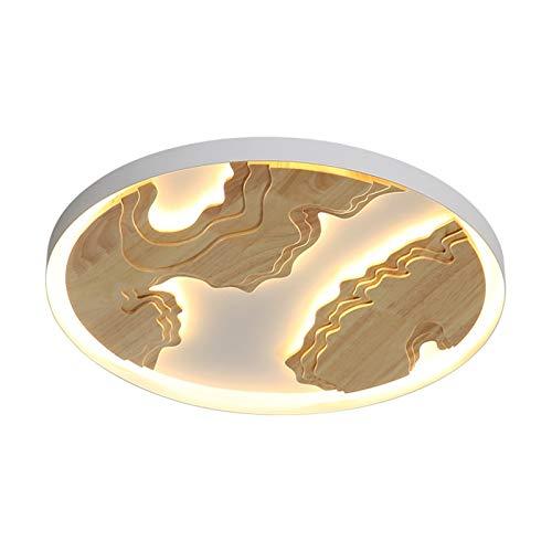 QuRRong Lámpara de Techo Lámpara de Techo de Estilo Chino Lámpara de Techo de Madera sólida All Copper Modern Minimalist Lamp para Pasillo Comedor (Color : White, Size : 50x6cm)