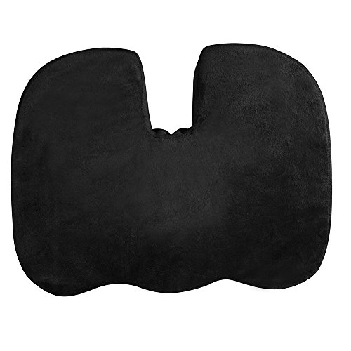 Memory Foam Coccyx Seat Cushion - Wedge Orthopaedic Chair Cushion to Help Improve Posture & Relieve Pain - Office, Home & Car Portable Seat Pad for Tailbone, Sciatica, Pelvic and Lower Back Pain