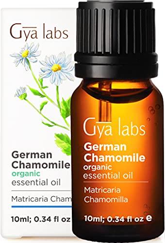 Aceite esencial de manzanilla alemana orgánica: un ambiente curativo para los músculos doloridos y la belleza renovada (10 ml) - Aceite de manzanilla alemán orgánico de grado terapéutico 100% puro