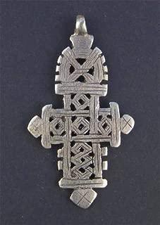 ethiopian cross necklace silver