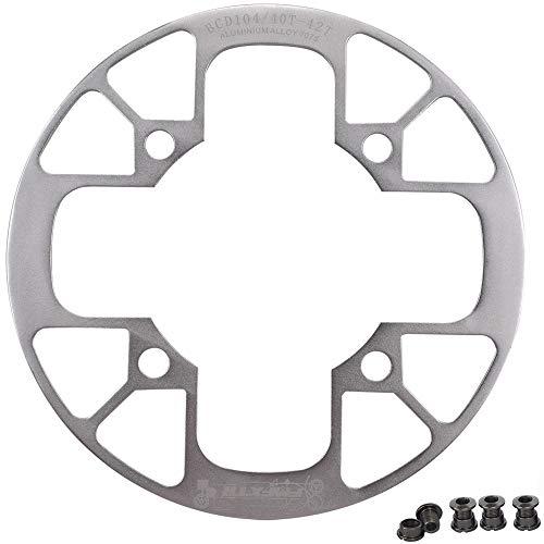 UPANBIKE Fahrrad Kettenblatt Schutz für Mountainbikes 104 BCD Aluminiumlegierung Kettenblattschutz für (40~42T,Silber)