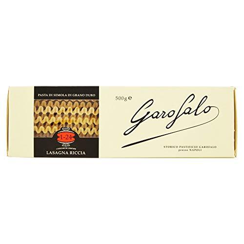 5x Garofalo Pasta di Gragnano IGP Lasagna Riccia N° 1-24 Hartweizengrieß Pasta 100% Neapolitanische Pasta Packung mit 500g