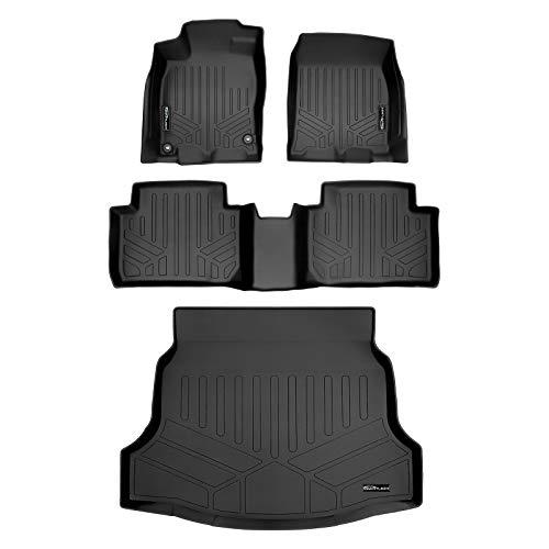 SMARTLINER Custom Floor Mats and Cargo Liner Set Black for 2017-2021 Honda Civic Hatchback (No Sport or Sport Touring Models)