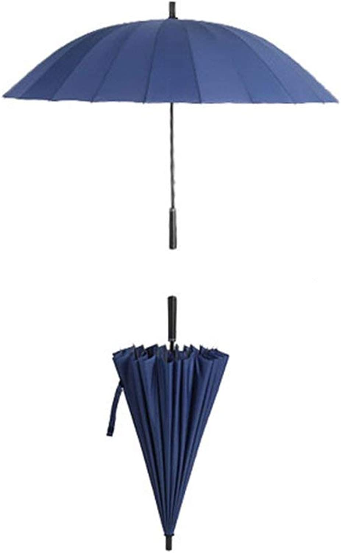 Umbrella, Long Handle Oversized Straight Shank Men's Women's Windproof Reinforcement Foldable, Non-Slip Handle Windproof Umbrella, ZDS