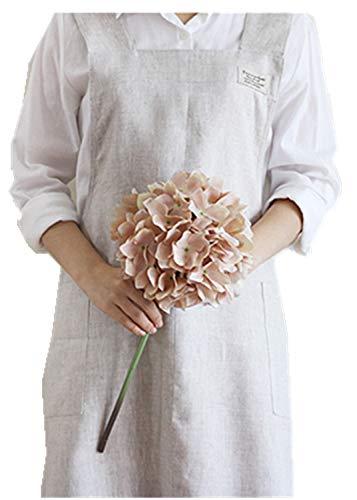 Schürze aus Baumwollleinen mit Halfter und Kreuzverband im japanischen Stil, X-Form, Beige