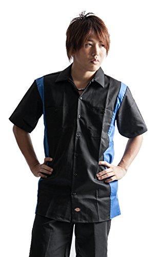 Dickies メンズ ディッキーズ 半袖 ボーリングシャツ ボウリングシャツ ワークシャツ 3カラー シャツ 黒 ブ...