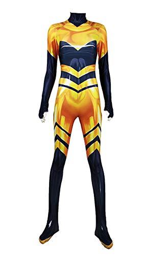 wetry Neu Ladybug Marienkäfer Kostüm/Queen Bee Overall für Erwachsene/Kinder Verkleidung,Ideal für Karneval Fasching Halloween/XXXL