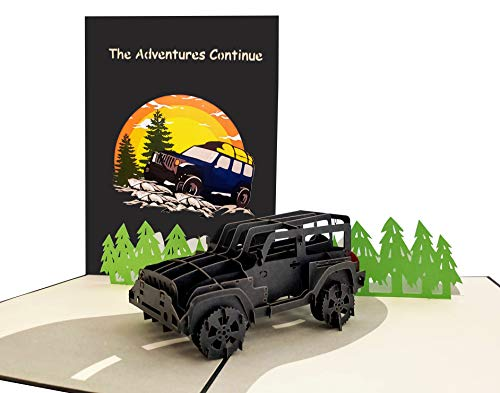 iGifts And Cards Adventure Awaits Jeep 3D Pop Up Greeting Card - Happy Birthday, Congratulations,...