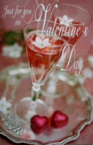 Biglietto di San Valentino – Biglietto di San Valentino – Champagne e cioccolatini