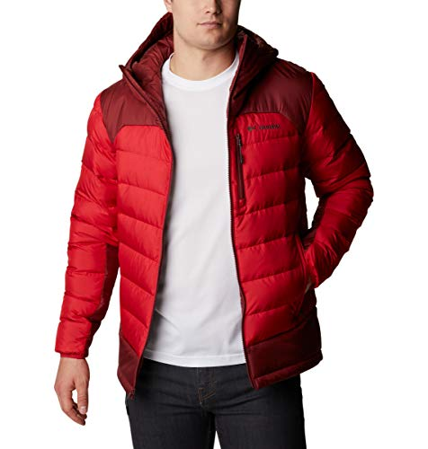 Columbia Herren Autumn Park Down Hooded Jacket Daunenmantel, Mountain Red, Roter Jaspis, X-Groß