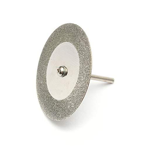 YUQIYU Rueda de corte molino de sierra circular de acero de 10 22 mm FOR Dremel accesorios de la herramienta rotatoria de diamante FOR Dremel mandril 2 (Color : No Holes)