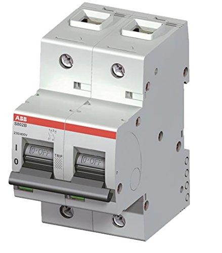 Abb-entrelec s800-c - Interruptor automático s802b-b125 2 polos 125a curva b 16ka
