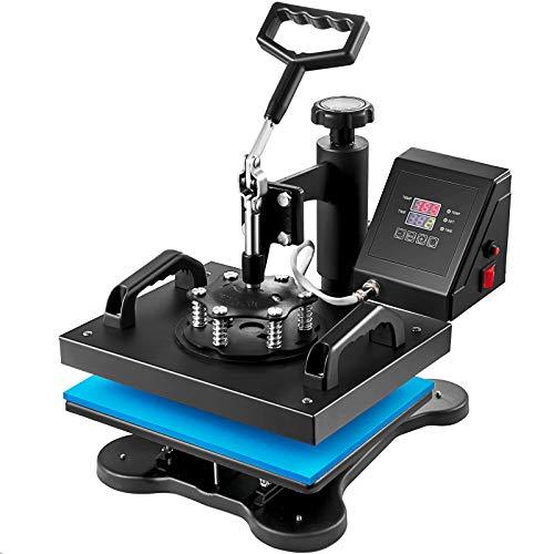 VEVOR 12X10 Inch Heat Press Dual Digital Heat Press Machine 650W Swing Away Heat...