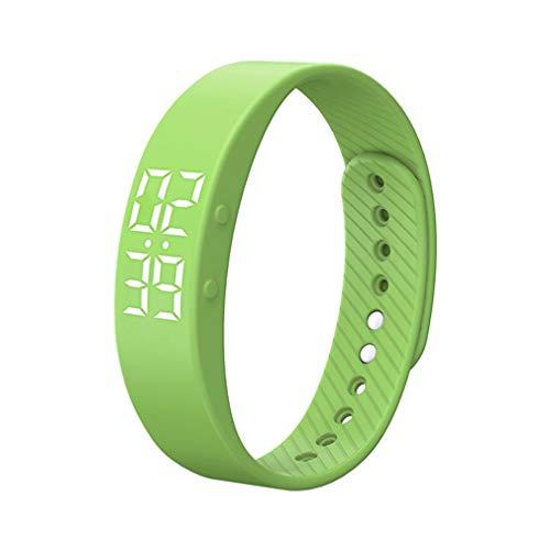 Multifunctionele monitorarmband Horloges Smartwatch Polsband Sport Digitale armband Sleep Tracker Fitnessbanden Groen