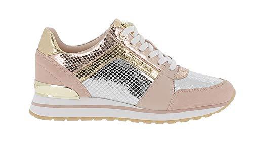 Michael Kors Sneakers Billie aus Veloursleder mit Einsätzen in Metallic-Optik, Pink - Rosa - Größe: 9.0
