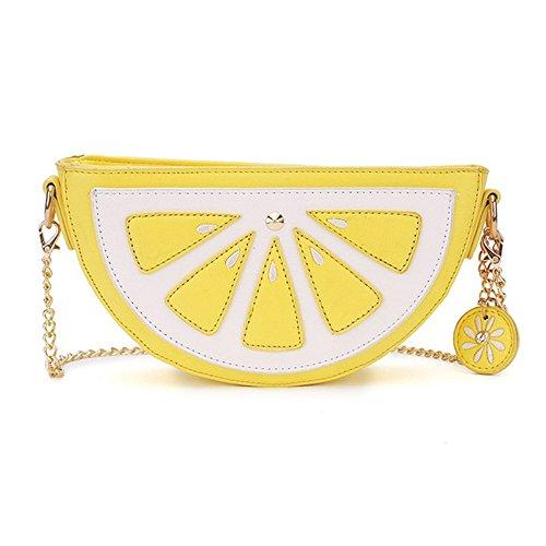 Última novedad lindo limón sandía piña fresa forma hombro mini bolsa para las mujeres